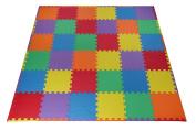 Toydaloo EVA Foam Play Mat Blank 36 pieces + 24 borders Non-toxic multicoloured Colourful