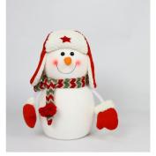 WuKong 18cm x 35cm Snowman Christmas Snow Winter Family Decor
