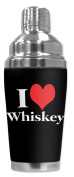 Mugzie brand 470ml Cocktail Shaker with Insulated Wetsuit Cover - I Heart Whiskey