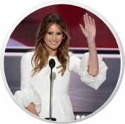 Melania Trump Waving (First Lady) 5.7cm Bottle Opener w/ Keyring