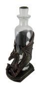 Dragon's Firewater Decorative Glass Spirit Decanter In Mediaeval Dragon Basket