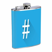 Hashtag 240ml Stainless Steel Flask Drinking Whiskey
