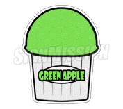 GREEN APPLE flavour Italian Ice Decal shaved ice cart