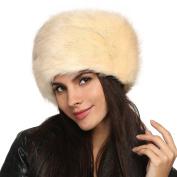 Zeogoo Women Winter Faux Fur Russian Cossack Style Hat Headband Ear Warmer