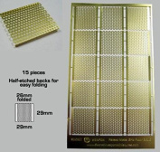 Brass Etch - Raised Metal Grid Flooring