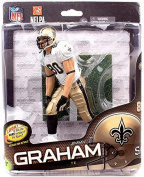 McFarlane Toys NFL Sports Picks Series 34 Action Figure Jimmy Graham (New Orleans Saints) White Jersey Collector Level