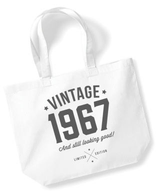 50th Birthday, 1966 Keepsake, Funny Gift, Gifts For Women, Novelty Gift, Ladies Gifts, Female Birthday Gift, Looking Good Gift, Ladies, Shopping Bag, Present, Tote Bag, Gift Idea (White)