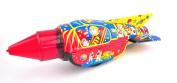 Tin Treasures Space Rocket Sparking Light Tin Toy