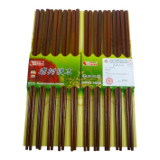 Chopsticks for Eating - Gift Set of 10 - Japanese, Chinese Luxury Wooden, Reusable and Dishwasher Safe - Great for Sushi - Length:25cm