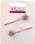 Ladies Hair Clips Pins Slides Girls Party Headwear Grips Diamante Pack Of 6