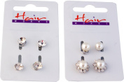 Ladies Bridal Wedding Prom Hair Pins Clips Grips Diamante/pearl Pack Of 6