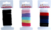 Girls School Works Hair Bobble Bands Ponytailers Small Thin Assorted Pack Of 6