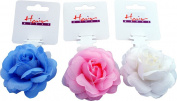 Ladies Hair Care Bridal Wedding Hairband Ponytailer With Large Rose Pack Of 6