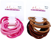 Ladies Fashion Hair Grips 14x Metal Free Ponytailer Assorted Colours Pack Of 6