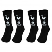Tottenham Hotspur FC Official Football Gift 2 Pair Pack Kids Boys Socks