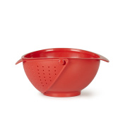 Umbra Rinse Bowl and Strainer, Red