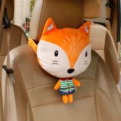 Calcifer® 1 Pcs Brand New Fashion Cartoon AnimalsComfortable Memory Foam Head Massage Car Neck Pillow Headrest Seat#CP007 (Beige)