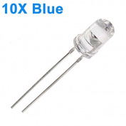 Bazaar 10pcs 5mm 3000-6000mcd LED Bright Decoration Torch Toy Light Blue
