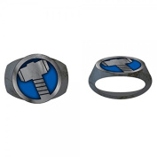 Marvel Thor Hammer Brushed Nickel Ring | 8