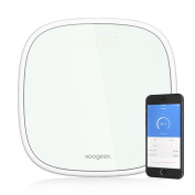 Koogeek Smart Scale Bluetooth 4.0 Body Analyzer 16 User Recognition Baby Weighing with Clear Glass LED Display Free App - IOS & Android Compatible