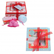 2 Bath Time Gift Set - Perfect Gift For Her - 1 Pamper Hamper Bath Time Treat Box + 1 Beauty Believers Festive Fizzies Stress Relieving Bath Bomb Gift Set LIMITED STOCKS
