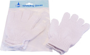 Womens Luxury Exfoliating Face Body Skin Care Soft Scrub White Gloves Pack Of 6