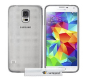 CARAPACE - SAMSUNG GALAXY S5 TPU CLEAR GEL SILICONE SKIN CASE COVER & SCREEN PROTECTOR