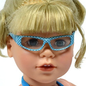 Sky Blue Polka Dot Glasses for 46cm Doll - Doll Glasses Fits 46cm Dolls and American Girl Dolls