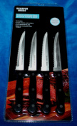 Sharper Image 4 Piece Stainless Steel Steak Knife Set