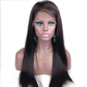 On Discount Tanya 50cm Human Hair Full Lace wigs 100% Indian Remy Silky Straight 2# Dark Brown With 1PC Wig Cap by Tanya