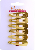 School Girls Hair Accessory Uniform Hairclip 6x Sleepies Gilt Pack Of 6