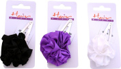 Girls Large Floral Bandies Snap Clip Grip Vintage Style Hair Sleepies Pack Of 6