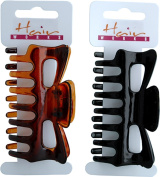 Womens Tort Hair Accessory Clip Claw Clamp 9cm Black/tortoise Assorted Pack Of 6