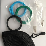 Polyleader set of three for Salmon Trout fishing Set with Zip Pouch Poly leader set CRN#2