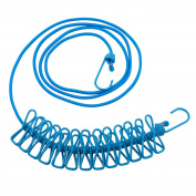 TRIXES Blue Long Compact Flexible 12 Peg Travel Washing Line