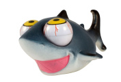 Pop-Eyes Squeeze Me Smiling Shark Toy