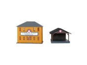 Nippon Express office sorting offices, assembly kit 13 438 N scale by Tsugawa Yoko