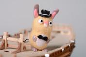 Felted wool miniature toy handmade Rabbit