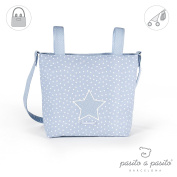 Pasito a Pasito Changing Bag, Nappy Bag, Mommy Bag (Vintage Star in Blue