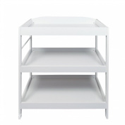 Baby Changing Table, White wood Kids Dresser Storage Shelves Furniture