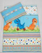 2 Piece Duvet Pillow Set For Crib, Cradle, Pram, Filling Baby Bedding Set - DINO BLUE
