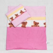 2 Piece Duvet Pillow Set For Crib, Cradle, Pram, Filling Baby Bedding Set - BEES ECRU