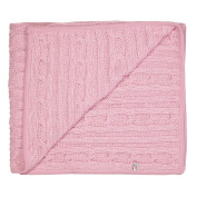 Cable Knit Sparkle pink Baby Girls Blanket