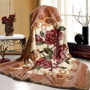 BDUK Stereo Carved Wedding Red Winter With A Double Layer Of Thick Autumn And Winter Warm Raschel Blanket
