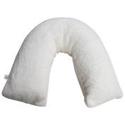 V Shaped Pillow Teddy Sherpa Fleece Orthopaedic, maternity Neck Pillow BY * Textile.Plus *