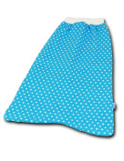 'boubalou Baby Sleeping Bag Little Dots Blue for Babies Large (4 - 6 Months) - A Warm Foot Muff for Home