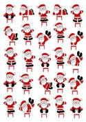 CHRISTMAS Santa Claus1 SET CAKE PARTY STANDS UP TOPPERS EDIBLE WAFER CARD x25 PIECES image 7