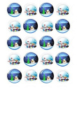 30 x CHRISTMAS Snow CupCake Toppers Edible Rice Paper 3.8cm image 7