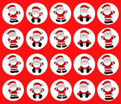 30 x CHRISTMAS Santa Claus CupCake Toppers Edible Rice Paper 3.8cm image 4