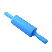 Vinmax Silicone Non-stick Blue Rolling Pin Pastry Dough Roller for Children Kids